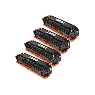 LD &copy 4 HP Compatible CP1215 toners 1(Bk,C,M,Y)