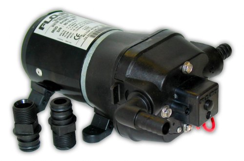 FloJet 04325343A Marine Heavy Duty Water Pressure Pump (4.5-GPM, 40-PSI, 24-Volt, 6-Amp)
