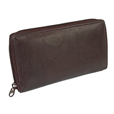 Paul & Taylor Unisex Leather Deluxe Zip Around Checkbook Cover Wallet