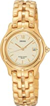 Seiko SXE588 Stainless Steel Le Grand Sport Gold Tone Watch
