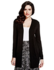 Per Una Open Front Twisted Longline Cardigan