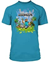Boys Minecraft T-shirt | Mine Craft Tshirt | Adventure Logo with Steve