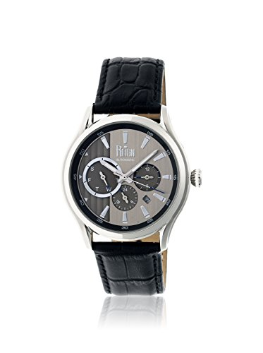 Reign Automatic Men's Gustaf Black/Charcoal Leather Watch