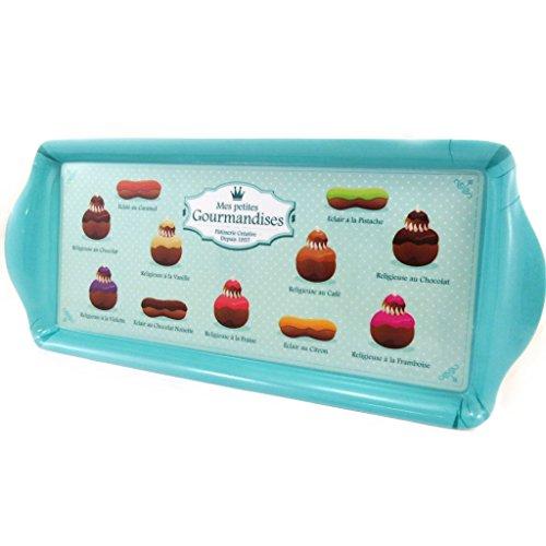 Les Trésors De Lily [L9010] - Plateau à cake 'Mes Petites Gourmandises' turquoise
