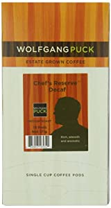Wolfgang Puck Coffee, Chef's Reserve Decaf, 18-Count Pods
