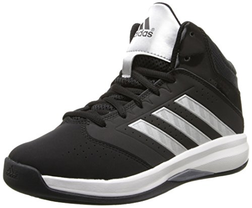 adidas Performance Isolation 2 K Basketball Shoe (Little Kid/Big Kid),Black/Metallic/Silver/White,12 M US Little Kid (High Top Adidas For Boys compare prices)