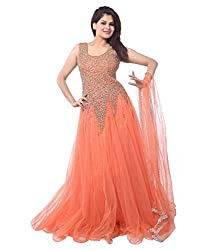 Bhavya Enterprise Lollipop Peach Net Gown