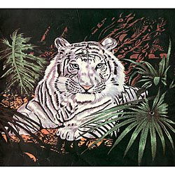 Acrylic Mink White Tiger Blanket. Product Category: Home and Garden > Bedroom