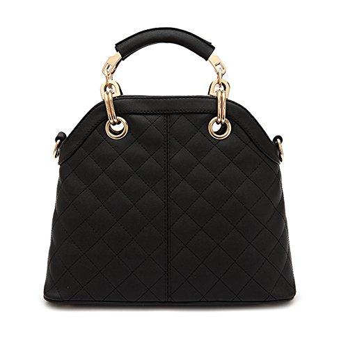 Fashion Pu Leather Clutch Cross-Body Shoulder Handbag 03556 (Black)