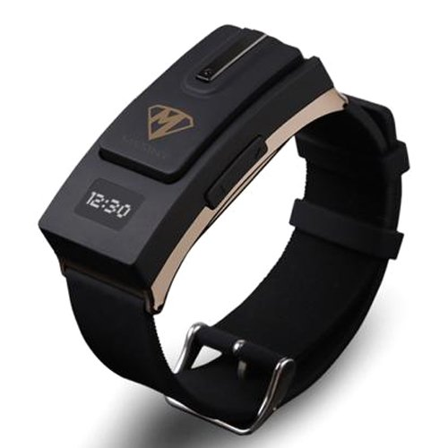 Lumen Mesiny Bluetooth Bracelet Watch Bluetooth Earphone For Smartphone (Black)