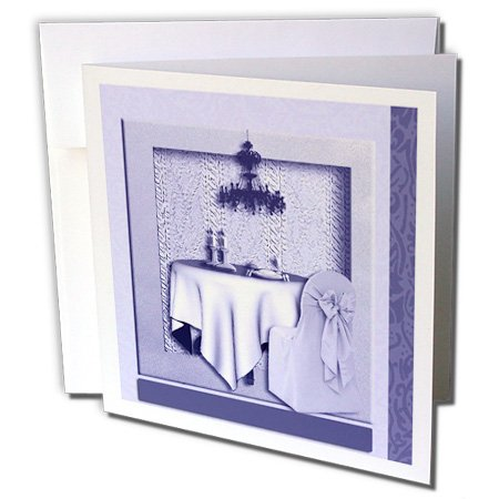 Gc_23896_1 Beverly Turner Design - Tea Party Invitation Tea Party Room Lavender - Greeting Cards-6 Greeting Cards With Envelopes