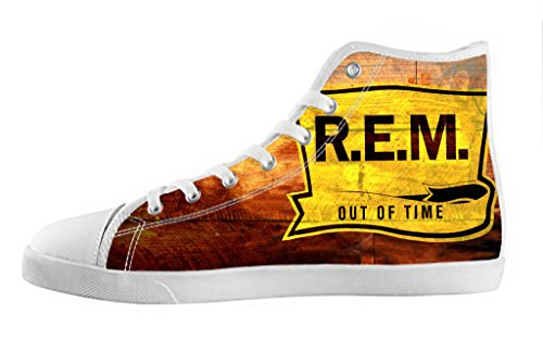Men's High Top Lace-up Casual Canvas Shoes Rock Band R.E.M DIY Fashion Sneaker