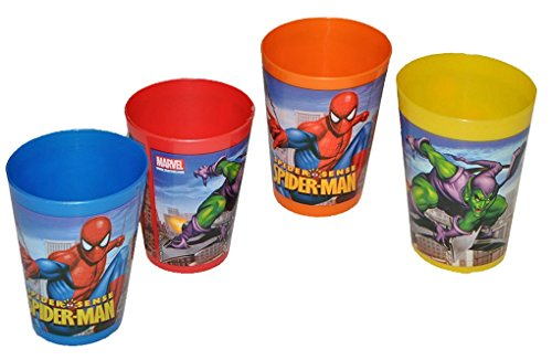 Amazing-Spider-Man-3-in-1-Trinkbecher-Zahnputzbecher-Malbecher-Becher-Trinkglas-Spiderman-Spider-Man