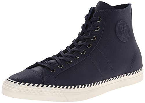 PF Flyers Men's Rambler Leather Fashion Sneaker, Blue, 10.5 D US