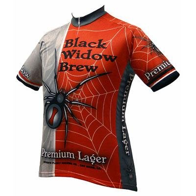 Image of World Jersey's Black Widow Brew Short Sleeve Cycling Jersey (B001VE14KY)