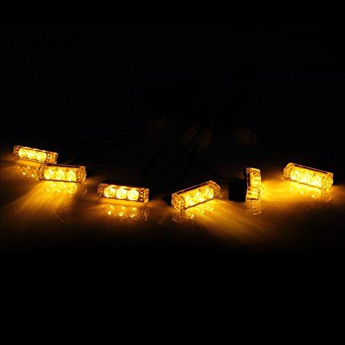 Koolertron 18 Led Vehicle Strobe Lights For Front Grille/Deck - Amber