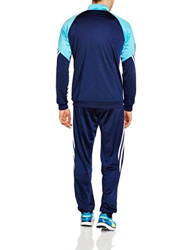 Adidas sere14 pes suit tuta da ginnastica blu l for Tuta adidas amazon