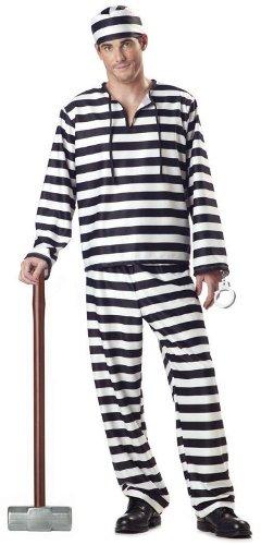 Men'S Jailbird Party Costume