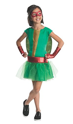 Teenage Mutant Ninja Turtles Deluxe Raphael Tutu Dress Costume with Bracelet for Mom