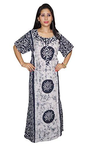 Indiatrendzs 0097969579029 Womens Nighty Night Dress Black Cotton Batik Printed  Sleepwear Maxi- Price in India f88c66d1b