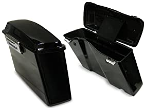 Black Hard Saddlebags Trunk W/lid & Latch Cover Kit for Harley Touring FLT FLH