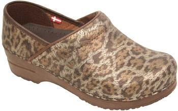 Sanita Women's Professional Timber Clog,Leopard,38 EU/7.5-8 M US