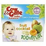 COW & GATE FRUTAPURA FRUIT COCKTAIL 4X100G