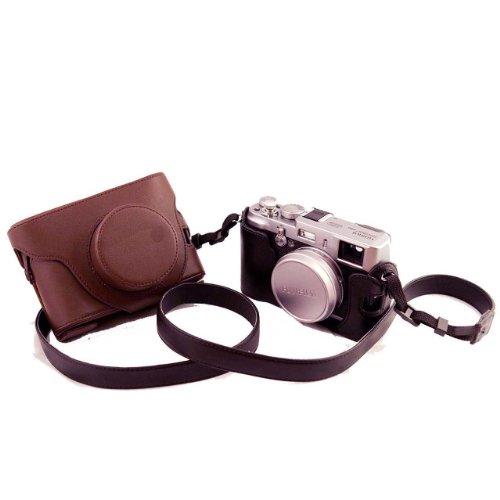 housses pour appareils un etui caisson deux volets en cuir pour appareils photo num riques. Black Bedroom Furniture Sets. Home Design Ideas