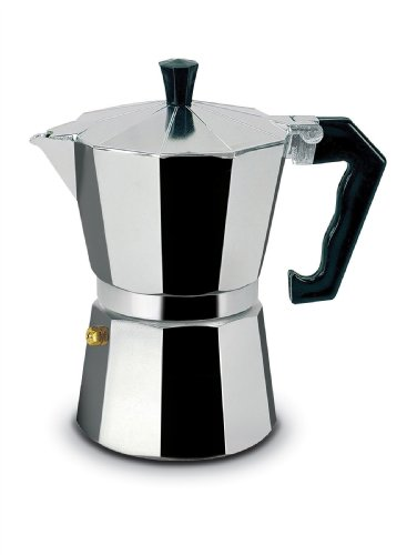 1 Cup Espresso Stovetop Coffeemaker in Polished Aluminum and Replacement Parts