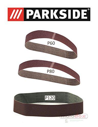 parkside-set-of-3-sanding-belts-6080120-lidl-parkside-stand-belt-sander-psbs-240-grit-b2-for-psbs-24