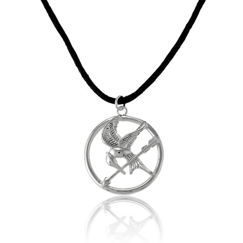 Sterling Silver The Hunger Games-inspired Mockingjay Pendant on 18