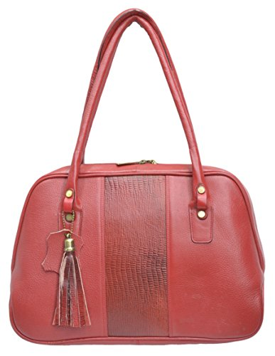 Red Leather Farm Handbag (Red) (Lf13)