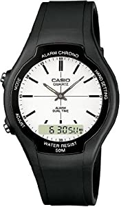Casio AW-90H-7EVEF Unisex Watch Quartz Analogue White Dial Black Resin Strap