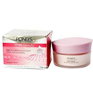 Ponds White Beauty Daily Anti-Spot Fairness Cream UVA & UVB Sunscreen with Gen White Active (25g) (pack of 2)