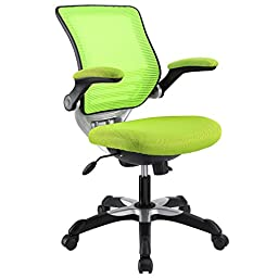 LexMod Edge Office Chair with Green Mesh Back and Mesh Fabric Seat