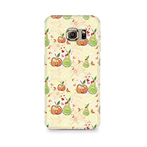 Motivatebox - Apple and Pear Samsung S6 Edge G9250 cover - Polycarbonate 3D Hard case protective back cover. Premium Quality designer Printed 3D Matte finish hard case back cover.