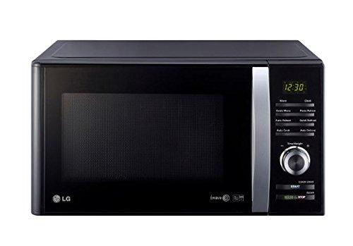 LG MH6382BTB Forno a microonge grill, 23 litri, tecnologia I-WAVE, Nero