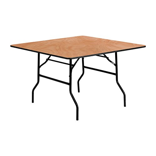Flash Furniture 48'' Square Wood Folding Banquet Table [Yt-Wfft48-Sq-Gg]