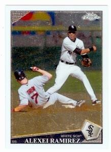 Alexei Ramirez baseball card (Chicago White Sox) 2009 Topps Chrome #159 Rookie Card