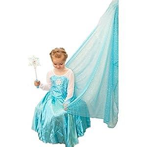 Amazon Com Frozen Inspired Elsa Snowflake Dress W Train