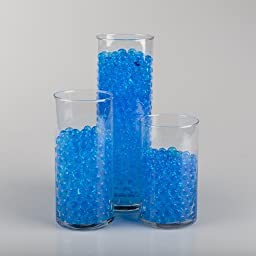 Eastland® Blue Water Pearls Vase Fillers non-toxic polymer bead swells 100% in water (Pack of 12 Bulk)