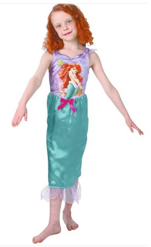 Kids Girls Medium 5-7 Yr Classic Little Mermaid Ariel Disney Fancy Dress Costume
