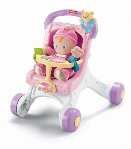 Fisher-Price Brilliant Basics Stroll-Along Walker Customerpackagetype: Standard Packaging Toy, Kids, Play, Children front-725586