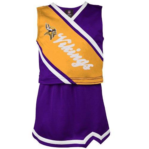 NFL Minnesota Vikings Youth Girls Two-Piece Sleeveless Cheerleader Set