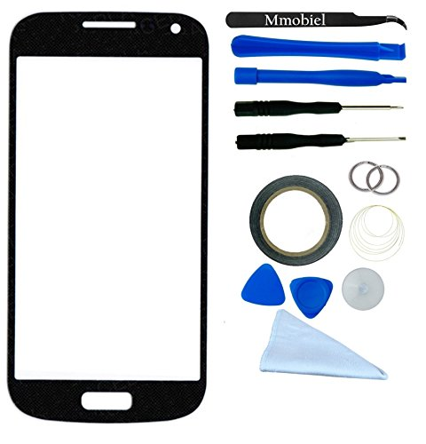 Samsung Galaxy S4 Mini I9195 I9190 I435 L520 R890 Blue Display Touchscreen Replacement Kit 12 Pieces Including 1 Replacement Front Glass For Samsung Galaxy S4 Mini I9195 / I9190 I435 L520 R890 / 1 Pair Of Tweezers / 1 Roll Of 2Mm Adhesive Tape / 1 Tool Ki