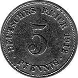 5 Pfennig Imperio Alemán, 1912 A (Jäger: 12) MBC