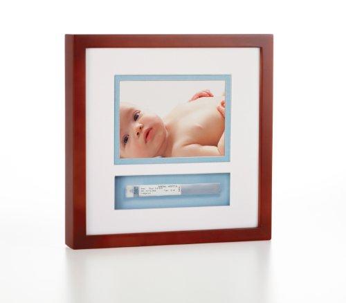 Pearhead Baby Bracelet Frame, Mahogany