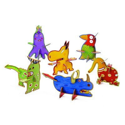 Picture of Djeco Funny Animals 3-D Puzzle by Djeco (B000TQOJ0M) (3D Puzzles)