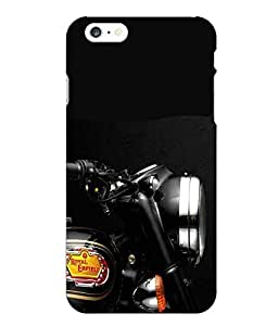 Snazzy Bike Printed Blue Hard Back Cover For Iphone 6 Plus