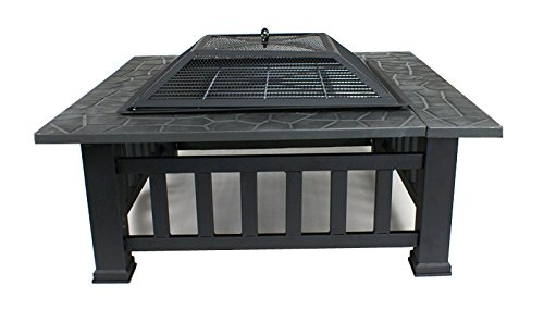 Zeny-Backyard-Fire-Pit-Outdoor-Patio-Metal-Wood-Firepit-Fireplace-BBQ-Garden-Cover-Stove